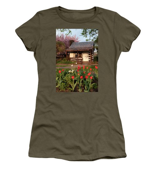 Women's T-Shirt (Junior Cut) featuring the photograph George Washington's House by Jeannette Hunt
