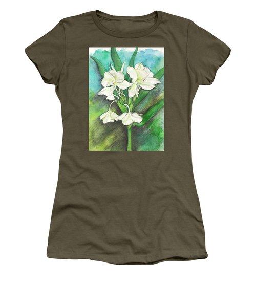 Ginger Lilies Women's T-Shirt (Junior Cut) by Carla Parris