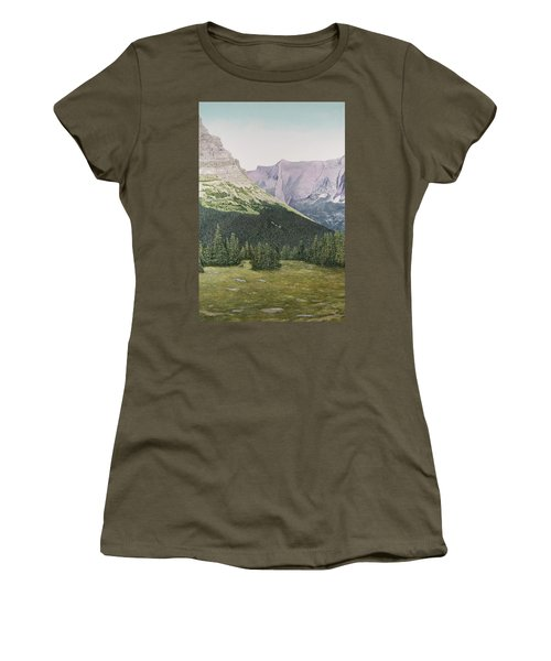 Glacier National Park Montana Women's T-Shirt (Athletic Fit)