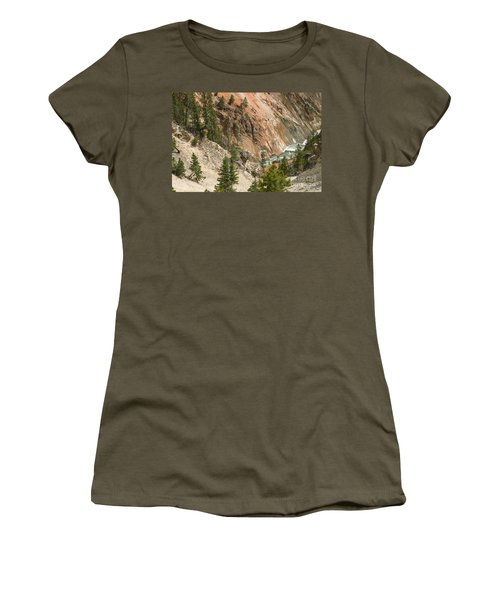 Grand Canyon And Yellowstone River Women's T-Shirt (Junior Cut) by Living Color Photography Lorraine Lynch