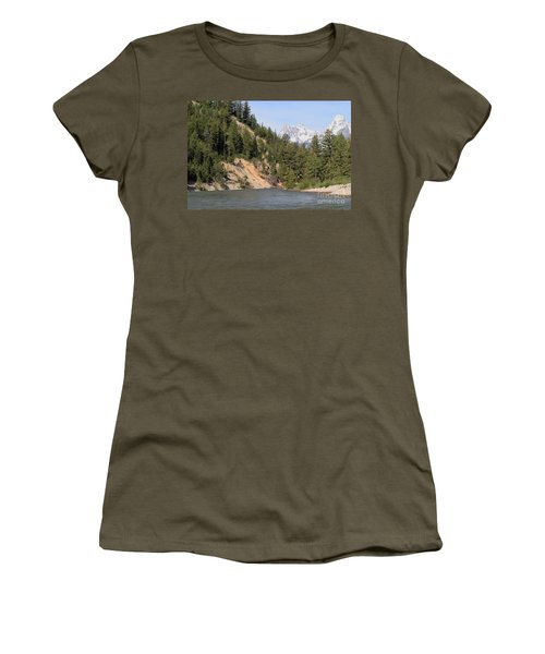 Grand Tetons From Snake River Women's T-Shirt (Junior Cut) by Living Color Photography Lorraine Lynch
