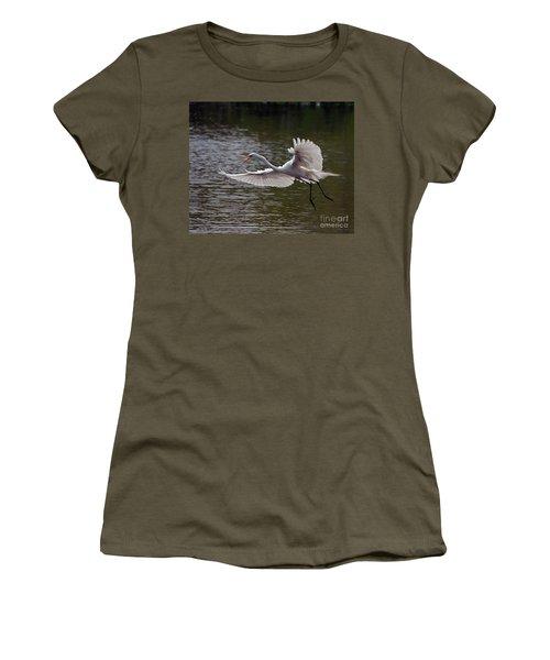 Great Egret In Flight Women's T-Shirt