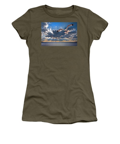 Greek Gulls With Sunbeams Women's T-Shirt