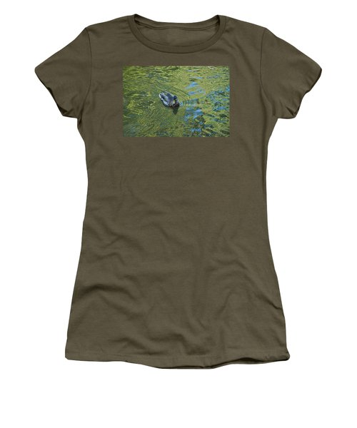 Women's T-Shirt (Junior Cut) featuring the photograph Green Pool by Joseph Yarbrough