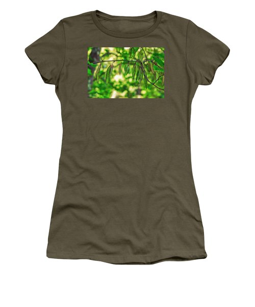 Green Redbud Seed Pods Women's T-Shirt (Athletic Fit)