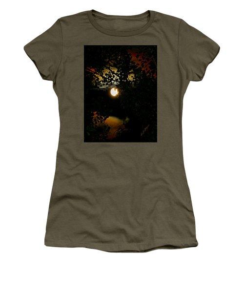 Haunting Moon IIi Women's T-Shirt (Junior Cut) by Jeanette C Landstrom