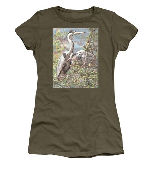 Herons Resting Women's T-Shirt (Athletic Fit)