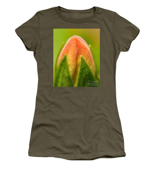 Hibiscus Bud Women's T-Shirt (Athletic Fit)
