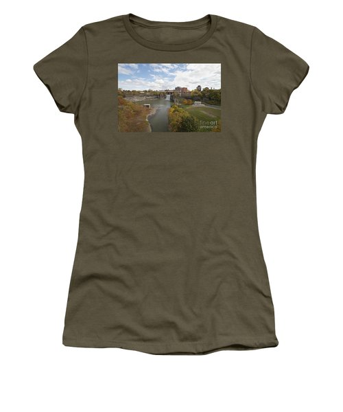 Women's T-Shirt (Junior Cut) featuring the photograph High Falls by William Norton
