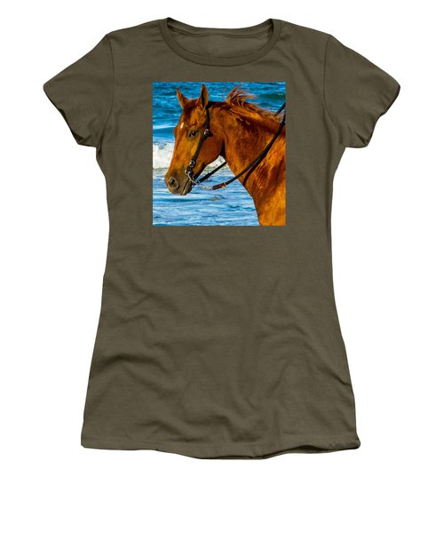 Horse Portrait  Women's T-Shirt (Athletic Fit)