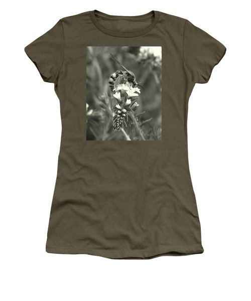 Hunter Wasp On Heliotrope Women's T-Shirt