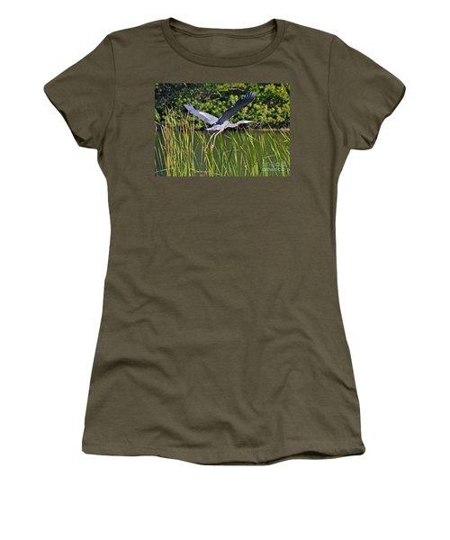 In Flight Women's T-Shirt (Junior Cut) by Carol  Bradley
