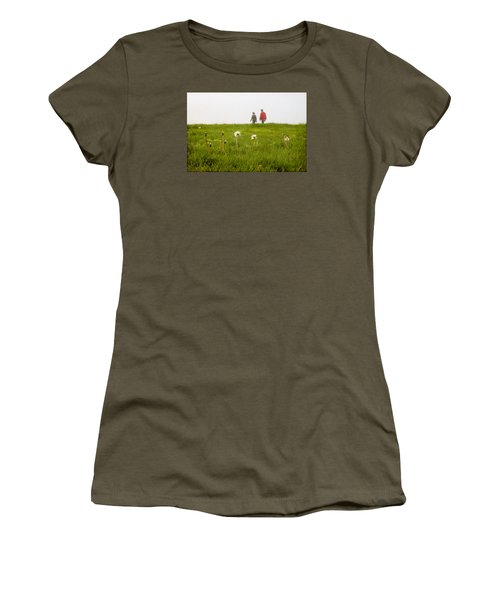 Women's T-Shirt (Junior Cut) featuring the photograph In The Mist by Milena Ilieva