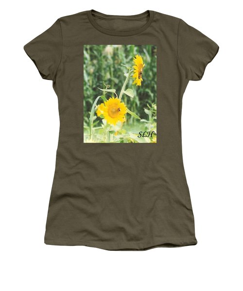 Insect On Sunflowers Women's T-Shirt (Athletic Fit)