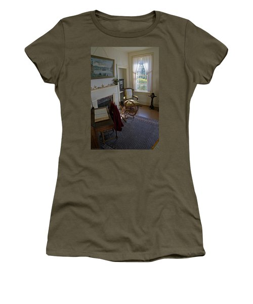Women's T-Shirt (Junior Cut) featuring the photograph Inside Yaquina Bay Lighthouse by Mick Anderson