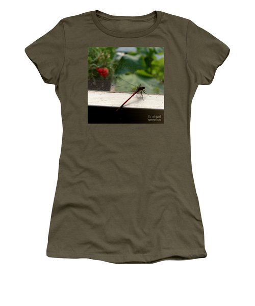 Women's T-Shirt (Junior Cut) featuring the photograph It's Always Greener by Lainie Wrightson