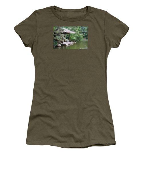 Japanese Tea House Women's T-Shirt (Junior Cut) by Bruce Bley