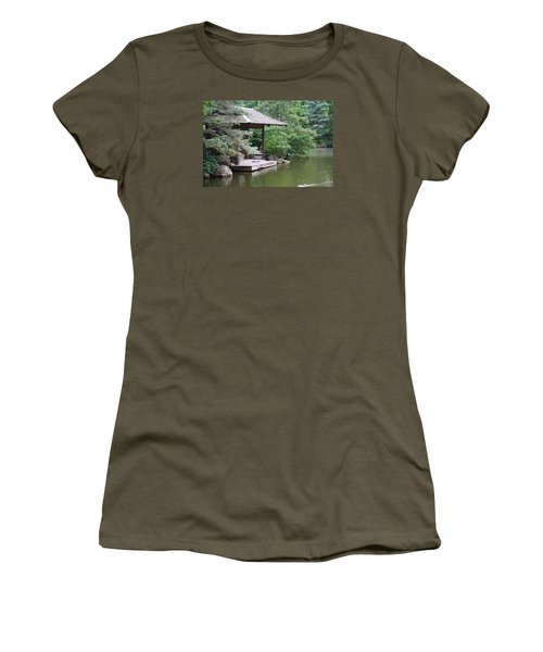 Women's T-Shirt (Junior Cut) featuring the photograph Japanese Tea House by Bruce Bley