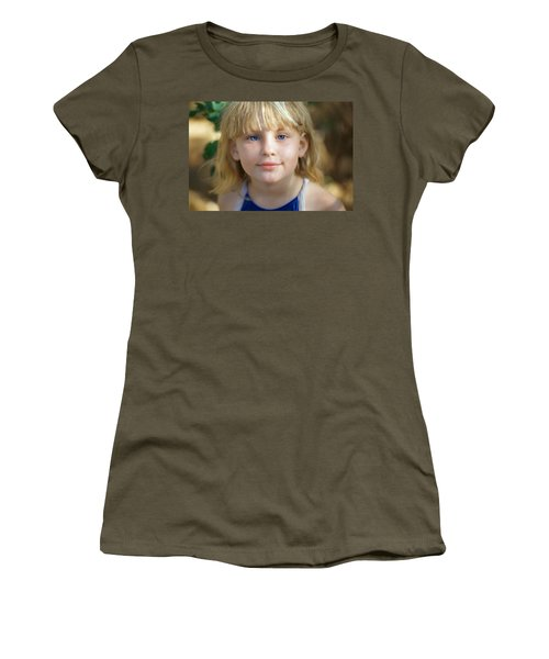 Portrait Of A Young Girl Women's T-Shirt (Junior Cut) by Mark Greenberg