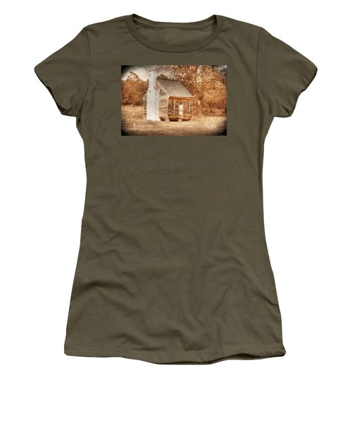 Joel Sweeney Cabin Women's T-Shirt (Junior Cut) by Dan Stone