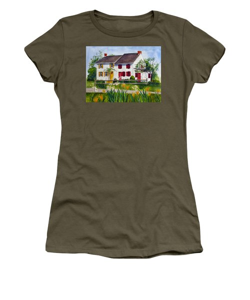 John Abbott House Women's T-Shirt (Junior Cut) by Clara Sue Beym