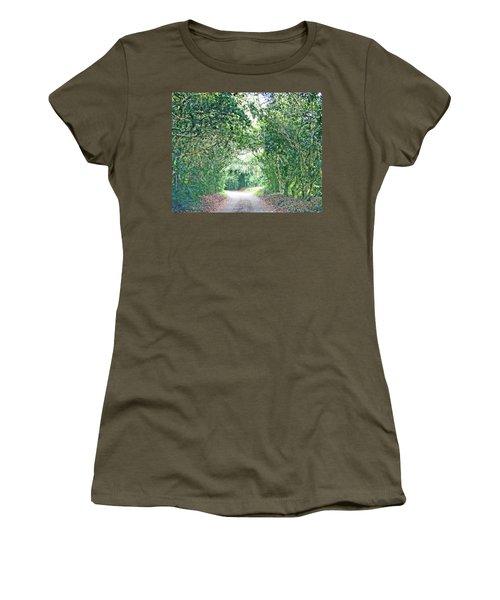 Women's T-Shirt (Junior Cut) featuring the photograph Jungle Drive Avery Island La by Lizi Beard-Ward