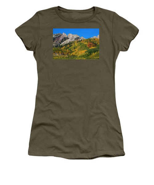 Women's T-Shirt (Junior Cut) featuring the photograph Kebler Pass by Jim Garrison