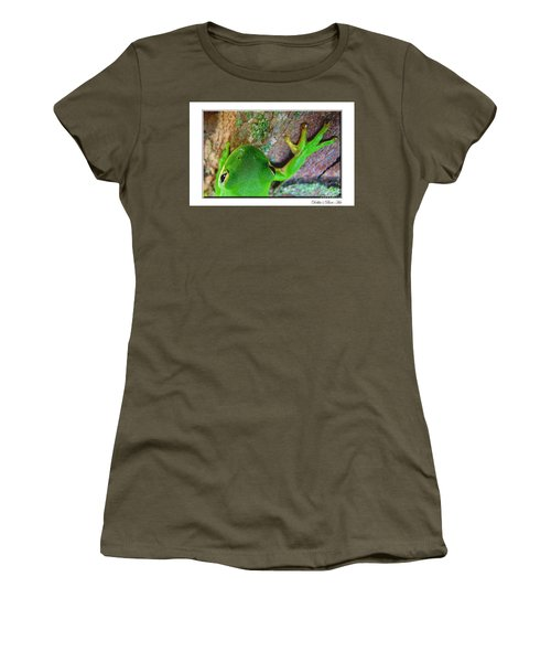 Women's T-Shirt (Junior Cut) featuring the photograph Kermit's Kuzin by Debbie Portwood