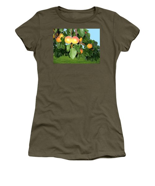 Women's T-Shirt (Athletic Fit) featuring the photograph Lake Country Apricots by Will Borden