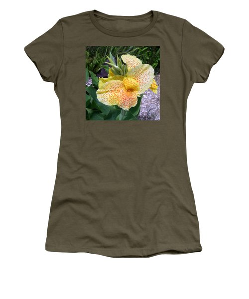 Women's T-Shirt (Junior Cut) featuring the digital art Leopard Flower by Claude McCoy