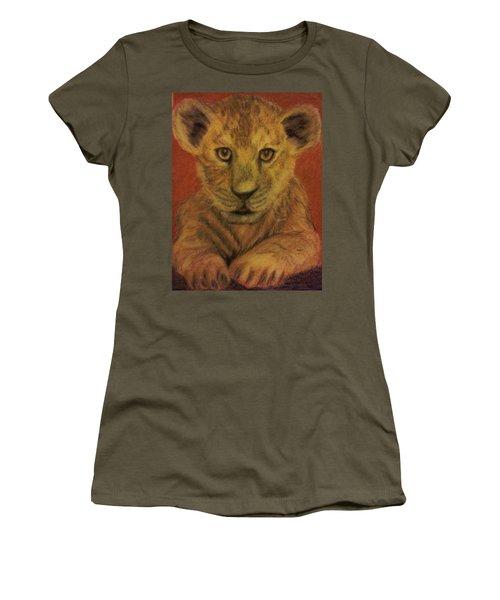 Lion Cub Women's T-Shirt (Junior Cut) by Christy Saunders Church