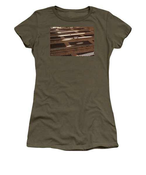 Women's T-Shirt (Junior Cut) featuring the photograph Lock Of Time by Fran Riley