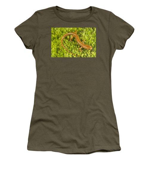 Longtail Salamander Eurycea Longicauda Women's T-Shirt (Junior Cut) by Jack Goldfarb