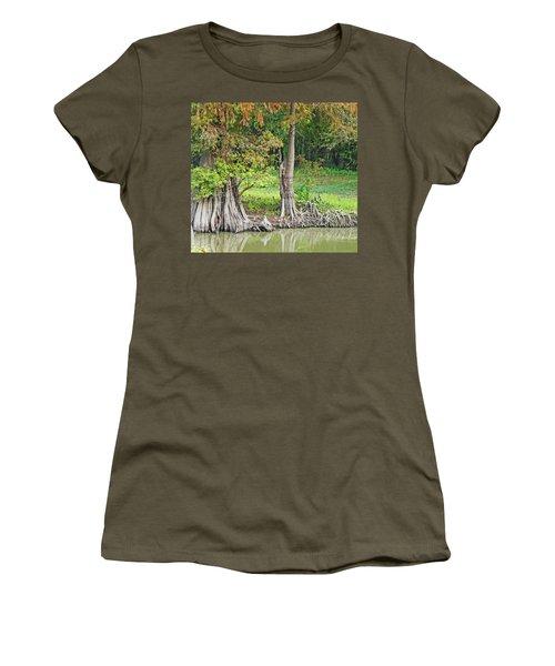 Women's T-Shirt (Junior Cut) featuring the photograph Louisiana Cypress by Lizi Beard-Ward