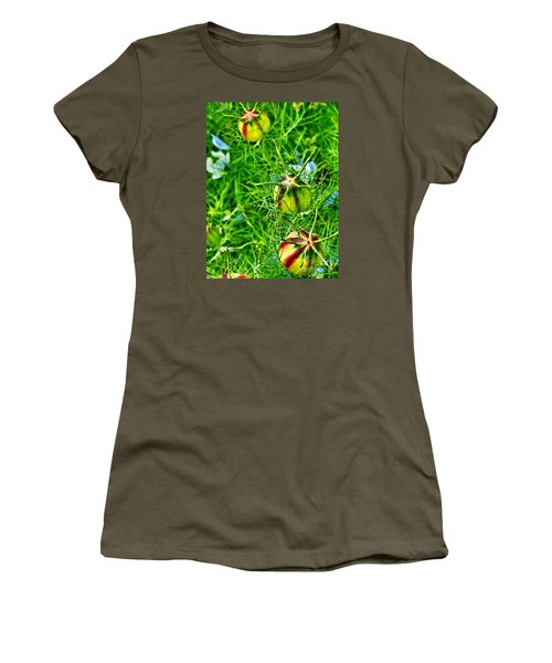 Women's T-Shirt (Junior Cut) featuring the photograph Love In A Mist by Steve Taylor