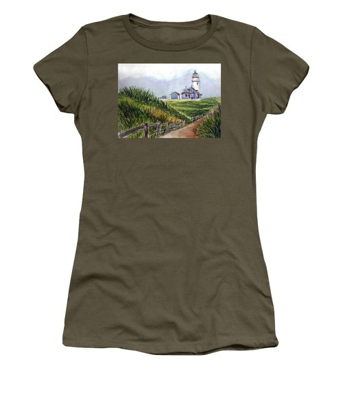 Women's T-Shirt (Junior Cut) featuring the painting Maine Light by Clara Sue Beym
