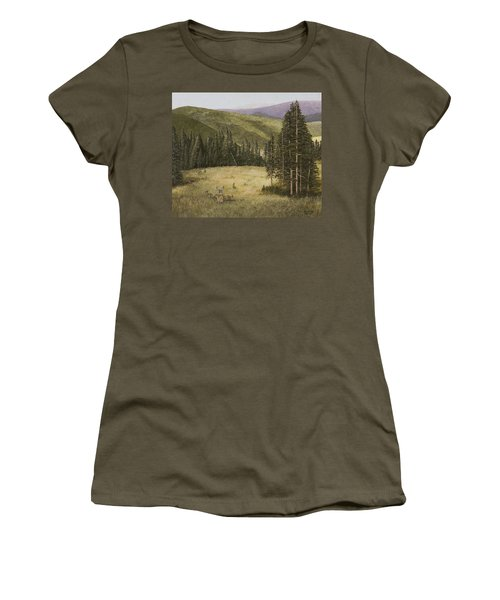Majesty In The Rockies Women's T-Shirt (Athletic Fit)