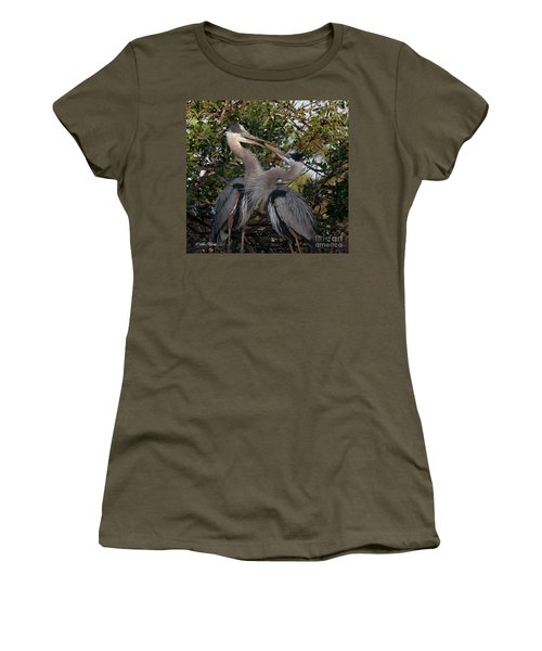 Mating Discussion Women's T-Shirt (Athletic Fit)