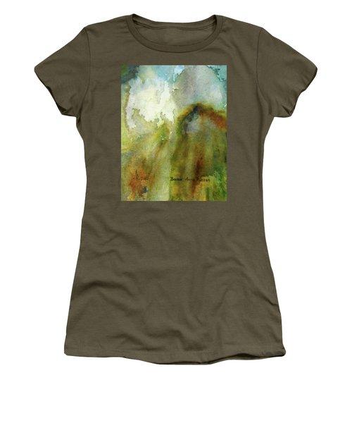 Women's T-Shirt (Junior Cut) featuring the painting Melting Mountain by Anna Ruzsan