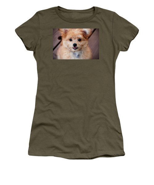 Women's T-Shirt featuring the photograph Mi-ki Puppy by Angie Tirado