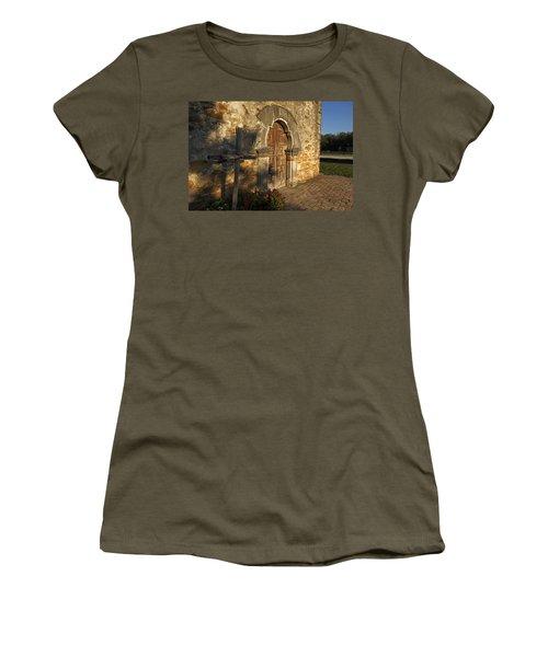 Women's T-Shirt (Junior Cut) featuring the photograph Mission Espada by Susan Rovira