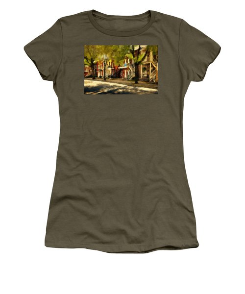 Montreal Street Women's T-Shirt (Junior Cut) by Diane Dugas
