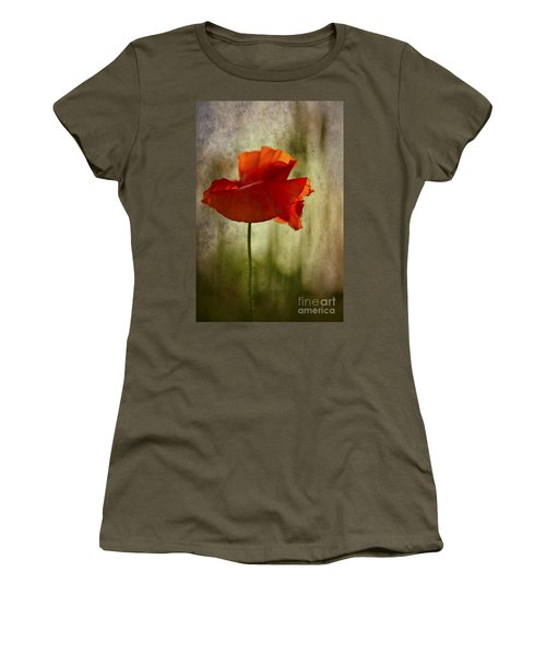 Moody Poppy. Women's T-Shirt