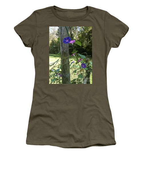Morning Glory Women's T-Shirt (Junior Cut) by Janice Spivey