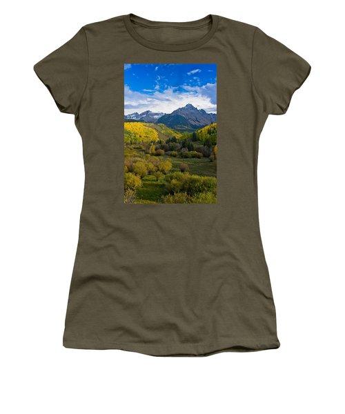 Mount Sneffels Under Autumn Sky Women's T-Shirt (Athletic Fit)