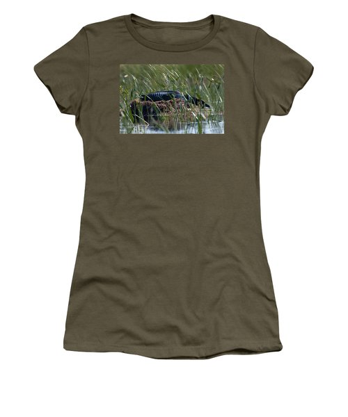 Women's T-Shirt (Junior Cut) featuring the photograph Nesting Loon by Brent L Ander
