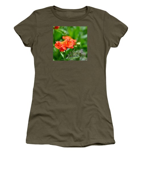 Never Boring Red And Green Women's T-Shirt (Athletic Fit)