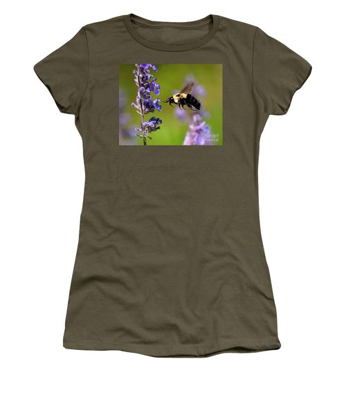Non Stop Flight To Pollination Women's T-Shirt (Junior Cut) by Sue Stefanowicz
