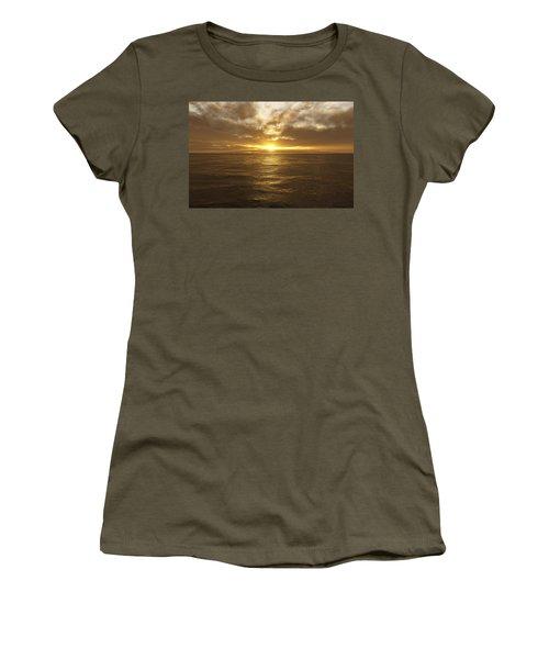 Ocean Sunset Women's T-Shirt (Junior Cut) by Mark Greenberg