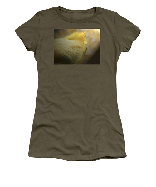 Women's T-Shirt (Junior Cut) featuring the photograph Oh So Soft Is The Kiss Of Dew by Debbie Portwood